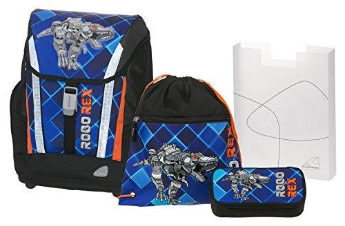 Angry Birds School Backpack Set 4/1 Soft Robo Rex 78303 Mochila Infantil 40 Centimeters 24 (Blue and Black)