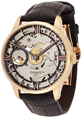 Mens Tissot Chemin Des Tourelles Squelette Mechanical Watch T0994053641800