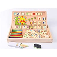 Horbous Juguetes de Aprendizaje de aritmética de Madera con Reloj, Juguetes educativos con Pizarra y tizas, Juguetes de matemáticas, Aprendizaje Preescolar / Juegos de matemáticas Juegos