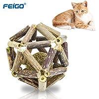 FEIGO Katzenminze Sticks + Ball aus Matatabi Katzenspielzeug Kaustäbchen Sticks Zahnpflege Natur Unterstützen die Natürliche Zahnpflege helfen spielerisch bei Mundgeruch & Zahnstein
