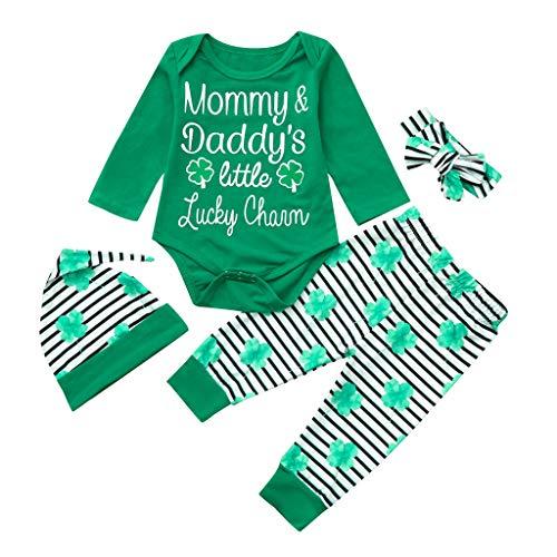 ngs Mädchenbekleidungs, Neugeborene Baby Mädchen Kurze Strampler Hosen Set St. Patrick's Green Outfits ()
