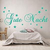 WANDTATTOO Gute Nacht Spruch Wanddekoration Schlafzimmer Kinderzimmer Größenauswahl