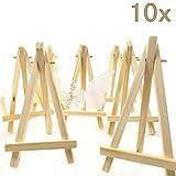 JZK® 10 x Mini kleine Holz Tafel Display