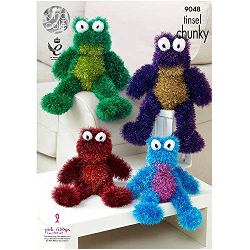 King Cole 9048 Knitting Pattern Toy Frogs in Tinsel Chunky by King Cole -