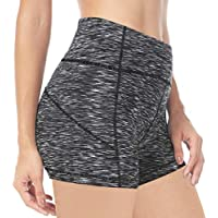 "Queenie Ke Damen 4.5"" Schrittnaht Hohe Taille Bauchkontrolle Yoga Train Running Shorts"