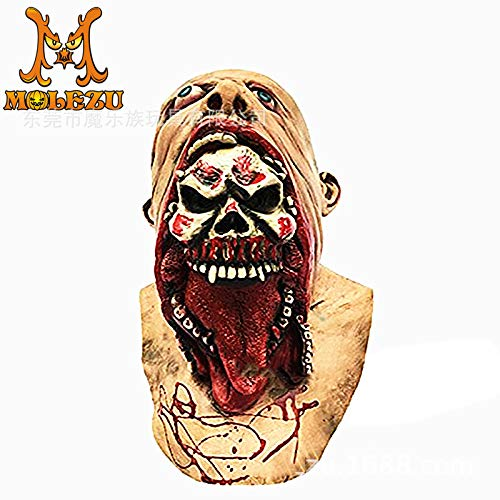 YWJ Scary Zombie Skull Gesichtsmaske Halloween Kostüm Party Cosplay Horror Vampire Zombies