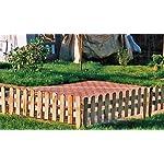 Praktischer Steckzaun im Maß 115 x 25 (+15) cm für den Garten zur Einfriedung von Beeten + Rasenflächen aus Kiefer/Fichte Holz, druckimprägniert