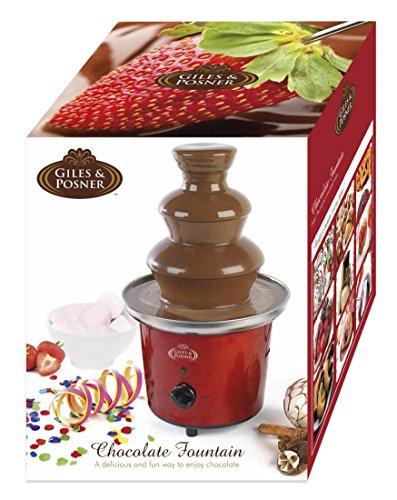 51iEuiUQQgL - Giles & Posner EK1525 Electric Chocolate Fountain for Fun Cooking, Red