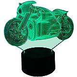 InnoWill Motorräder Fans Geschenk Dekoration Deko LED Lampe USB und batteriebetriebene 7Colors