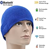 ONX3® Acer Liquid E3 Duo Plus (Blau) Unisex One Size Winter Bluetooth Beanie Hat mit Eingebautem Wireless Stereo-Lautsprecher-Kopfhörer