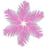 BESSKY Christmas Artificial Feather Bauble Xmas Tree Party Hanging Decoration Ornament 13x8cm klebriges Pulver Weihnachtsdekoration Phönixblätter (6 Stück)