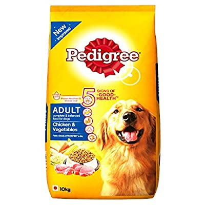 Pedigree Adult Dog Food, Chicken and Vegetables, 10 kg pack