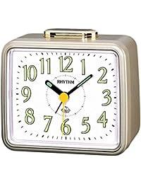 Rhythm Gold sqaure Basic bell alarm clokcs 10x12x8Cm