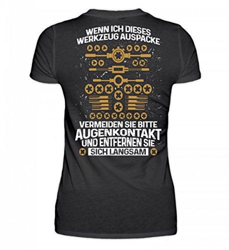 Camicia Bio Da Donna Di Alta Qualità - Meccanico: Quando Spacchetto Questo Attrezzo ... Nero