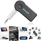 Car Bluetooth For Intex HD 5.0 Car Bluetooth Music Receiver Adapter With Built-in Mic And 3.5mm Aux Audio Stereo | Music Wireless Hifi Dongle TransmitterMp3 Speaker| Home Hands Free Car Kit