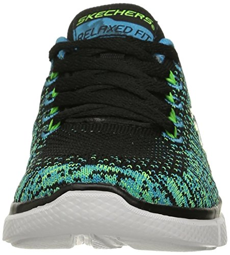 SkechersEqualizer 2.0 - Perfect Game - Scarpe da Ginnastica Basse Nero (Black (Black/Blue/Lime))