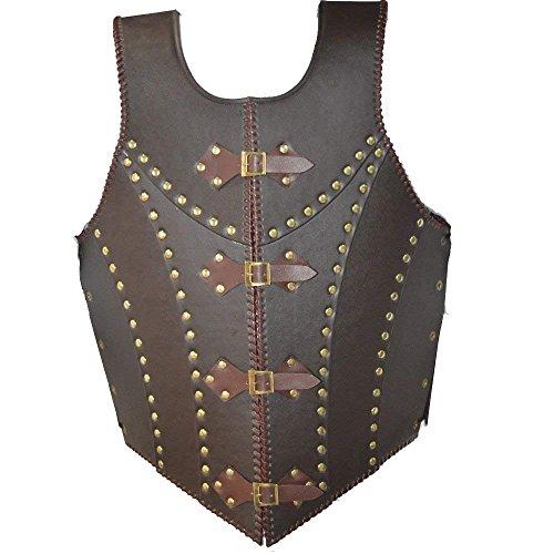 Nasir Ali Mittelalterliche Braune Leder Dragon Warrior Rüstung Jacke Kostüm LARP (Leder Mittelalterlichen Jacke)