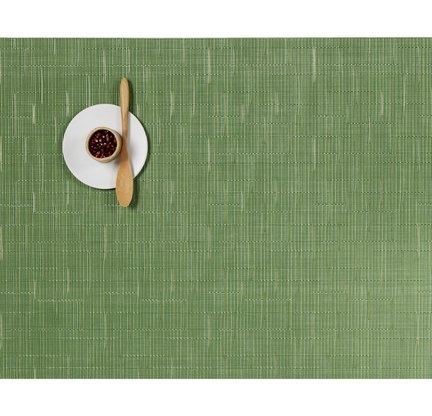 Chilewich Placemat Bamboo Rectangle - Lawn Green Chilewich Bamboo