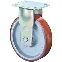 BS rotoli rotolo di cavalletto pesante, Piastra di ancoraggio, poliuretano–Ruota in ghisa, corpo, 250mm, rr110.c10.250