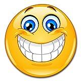 easydruck24de 1 Smiley-Aufkleber Smile XXL I kfz_299 I rund Ø 60 cm I Emoticon Sticker lachend für Auto Wohnwagen Wohnmobil Wand-Tattoo I wetterfest
