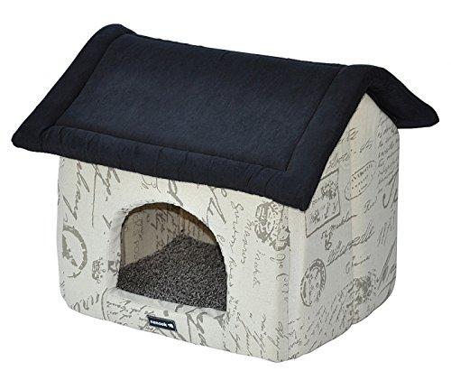 nanook Kuschelhöhle Luca - 50x43 - Hundehaus Katzenhaus - Tierhöhle mit elegantem Design