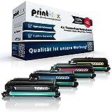 Print-Klex 4x Kompatible Tonerkartuschen für HP LaserJet Pro 500 color MFP M570dw LaserJet Pro 500 Series HP CE400X CE401A CE403A CE402A HP 507 A HP 507 X Schwarz Blau Rot Gelb - Color Line Serie