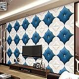 Kuamai Benutzerdefinierte 3D Wandbilder Wallpaper Für Schlafzimmer 3D Benutzerdefinierte Tapete Senior Soft Wohnzimmer Tv Sofa Nacht Hintergrund Wandtapete-400X280cm