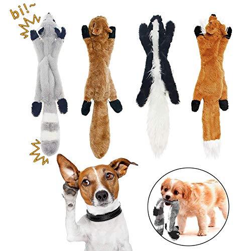 WUKONG99 Hochwertige Heimtierbedarf Hund Quietschspielzeug Kauen Spielzeug Keine Füllung Hund Spielzeug Plüsch Tier Hundespielzeug für Kleine Medium Hund,4# - Keine Spielzeug Hund Füllung-plüsch