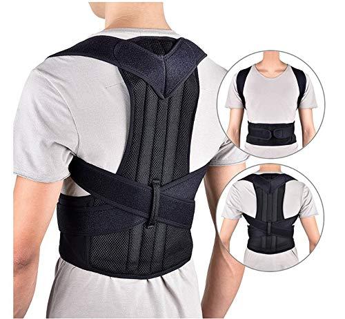 QHGao Haltungsorthesen Für Männer Und Frauen,Schulterhaltung Zur Unterstützung Der Lendenwirbelsäule Zur Unterstützung, Schmerzlinderung Für Nacken,Schultern Und Rücken(Mehrere Größen),XXL - Lang Anhaltende Schmerzlinderung
