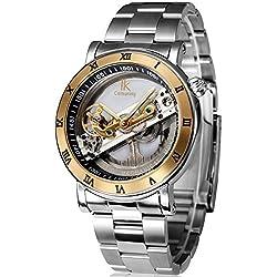 Alienwork IK Automatic Watch Self-winding Skeleton Mechanical Water Resistant 5ATM Stainless Steel silver silver 98399G-MS-IPG