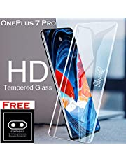 ShopeeQ 9H Hardness Edge to Edge Screen Guard Protector for Oneplus 7 Pro Tempered Glass Extra with Full Glue Glass Free Camera Protector