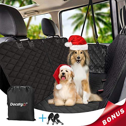 Docatgo Coprisedile per Cani, Coprisedile Auto Cane, Amaca Coprisedile Impermeabile Protezione, Universale per Ogni Auto (X-Large 148X162CM)