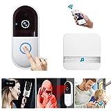 Video Doorbell, Wireless WiFi Smart Doorbell HD Home Security Camera, Night Vision, 2-Way