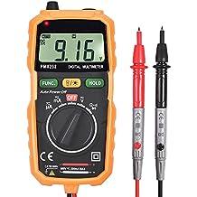 Multímetro Digital, Neoteck Mini Multímetro Rango Automático del Tester de Medir Corriente DMM DC AC Voltímetro sin Contacto con la Detección del Voltaje y la Sonda de Pantalla LCD Retroiluminada