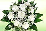 Blumenstrauß mit Nelken - Weiße Nelken und Schleierkraut