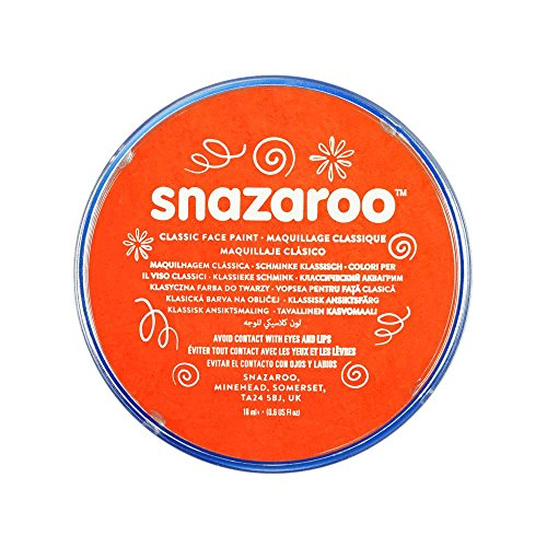 Snazaroo Kinder - Schminkfarbe, 18ml - Topf  Dunkelorange