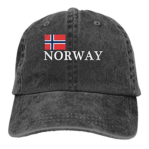 cvbnch Cowboy-Hut Sonnenkappen Sport Hut Norway National Pride Men's Women's Adjustable Jeans Baseball Hat Yarn-Dyed Denim Trucker Hat Sports Cool Youth Golf Ball Unisex Hiking Cowboy hat hip hop (Hip Hop Bunny Kostüm)
