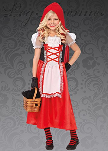 Magic Box Int. Mädchen Lange Red Riding Hood-Kostüm Small (4-6 Years) (Hood-kostüme Red Riding Mädchen Für)