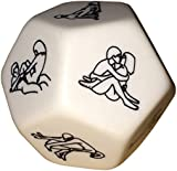 Sexy Couple Kamasutra Game Erotic 12 Sided Large Dice - Date Night Essential