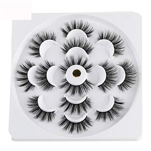 15d3845b6ca KHKJ 7 Pairs 3D Mink Hair False Eyelashes 25mm Lashes Thick Long Wispy  Fluffy Handmade Cruelty