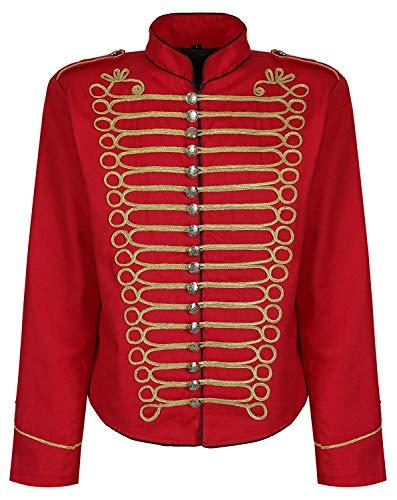 oleon Offizier Parade Jacke - Rot & Gold (Herren XXXL) ()