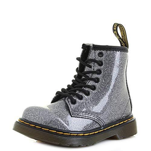 Dr. Martens Mädchen 1460 Glitter T Kurzschaft Stiefel, Grau (Gunmetal 029), 24 EU (Für Doc Schuhe Mädchen Martens)