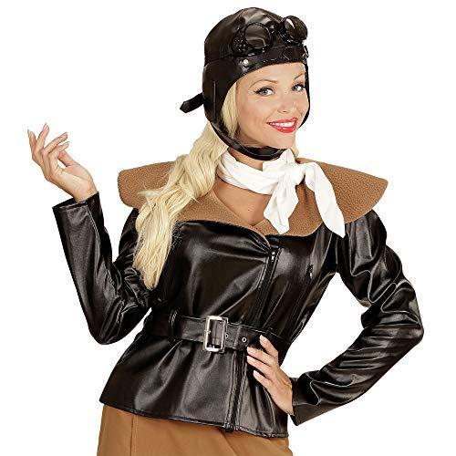 Fliegerinnen Kostüm - Widmann 06582 - Erwachsenenkostüm Retro Fliegerin, Jacke, Rock, Schal und Fliegermütze