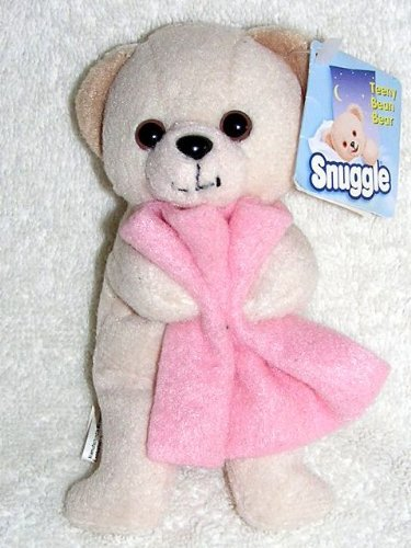 2000 Snuggle Bear Small 5 Plush Teeny Bean Bear Holding Pink Blanket by Lever Brothers
