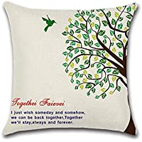 Decorativa almohada multicolor algodón y texto en inglés Impresión Impreso Sofá Decoración Cojín Caso agarre Bar Funda de almohada cojín de móvil 3