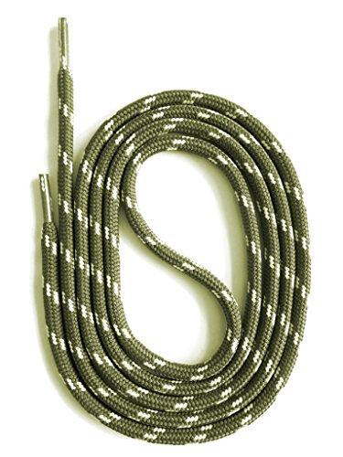 SNORS LACCI DI SICUREZZA GRIGIO VERDE/CREMA 150 cm 59' ca. 5mm Stringhe per Scarpe Da Lavoro Da Trekking