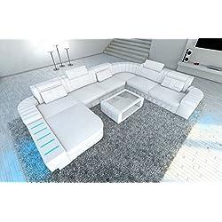 MEGA Conjunto de Muebles Para Salón BELLAGIO XXL con iluminación Led Blanco