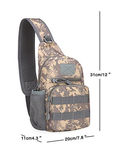 Menschwear Schleuder Tasche Chest Pack,Multiple Storage Zweck Umhängetasche Tragen Styles Grün Tarnung 3