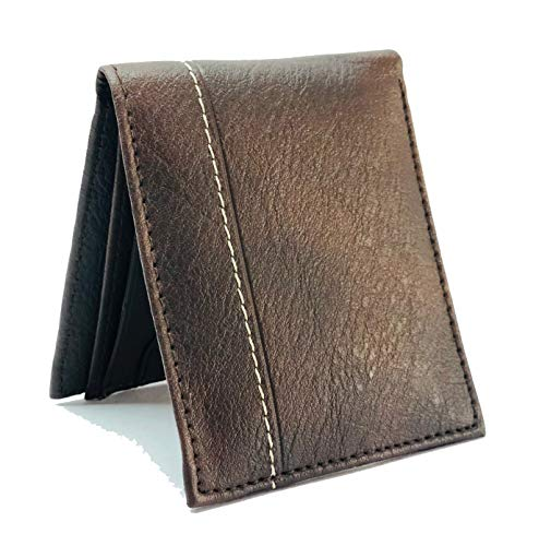 Sassie Brown Faux Leather Men's Wallet