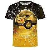 Photo de NIEWEI-YI Hommes Pokemon 3D Pattern imprimé T-Shirts Chemise à Manches Courtes à Manches Courtes T-Shirts Blouse Tops par NIEWEI-YI